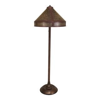 1990s Vintage Arts & Crafts Copper Finish Floor Lamp For Sale