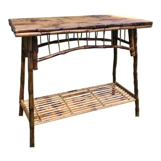Bamboo & Rattan Console Table