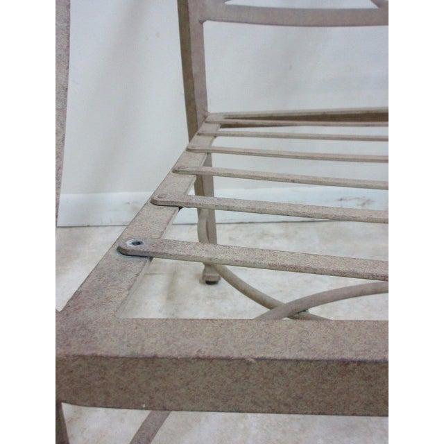 Woodard Furniture Co. Woodard Landgrave Cast Classics Aluminum Patio Loveseat For Sale - Image 4 of 5
