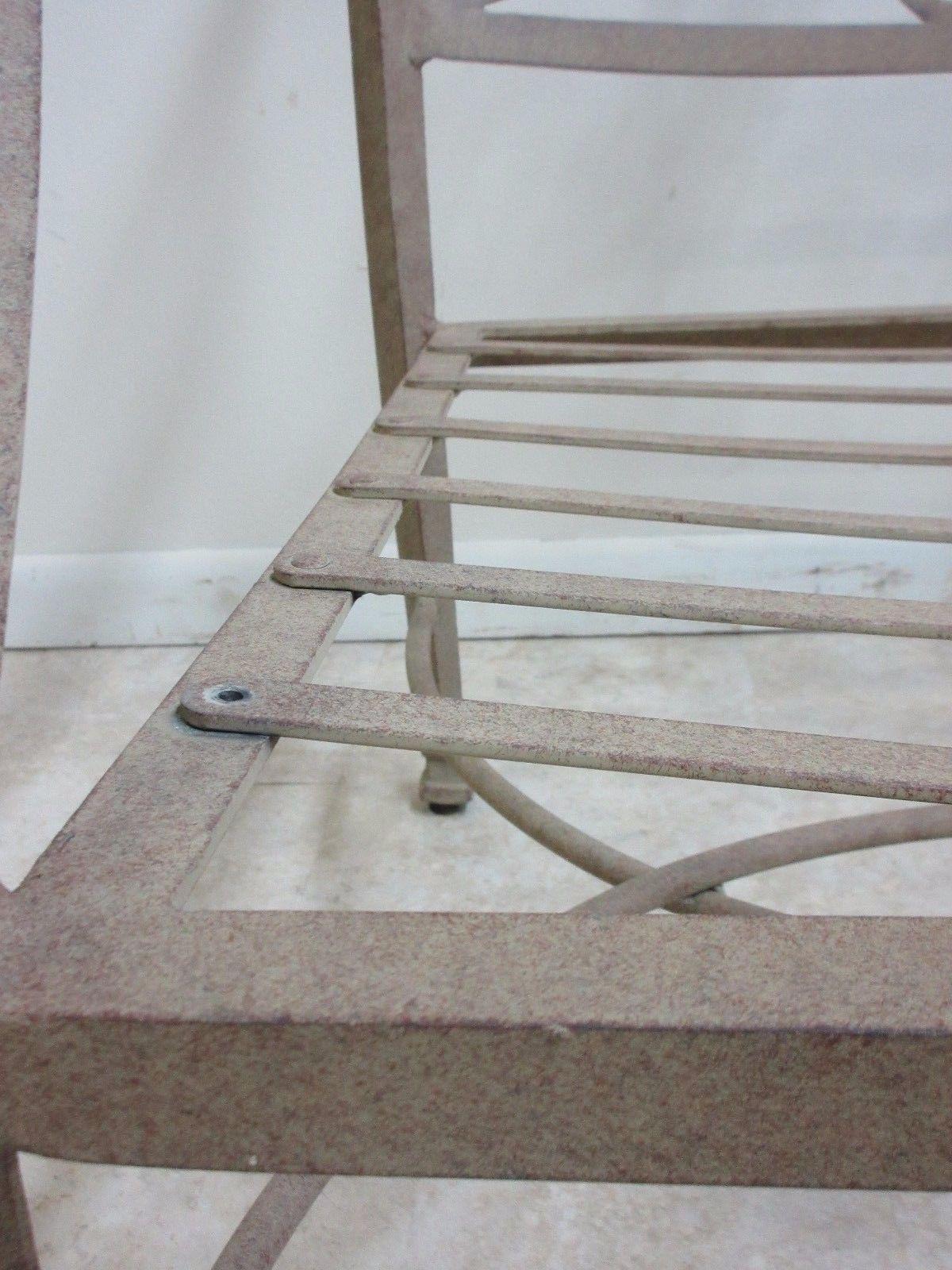 Woodard Furniture Co. Woodard Landgrave Cast Classics Aluminum Patio  Loveseat For Sale   Image 4