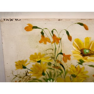 Yellow Flower and Daisy Painting Preview