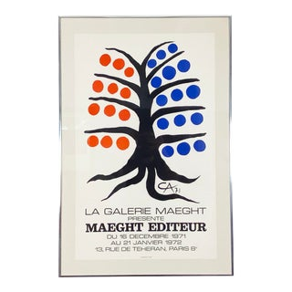 Alexander Calder La Galerie Maeght Exhibition Poster - 1971 For Sale