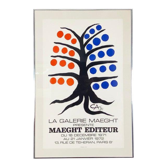 Alexander Calder La Galerie Maeght Exhibition Poster - 1971 For Sale