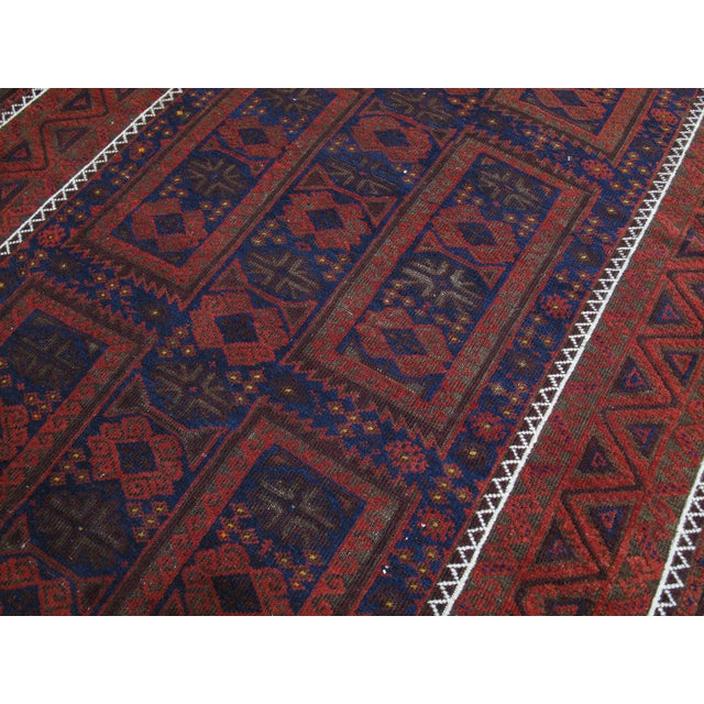 Antique Baluch Long Rug For Sale - Image 4 of 9