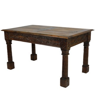 French Gothic Revival Oak Centre Table