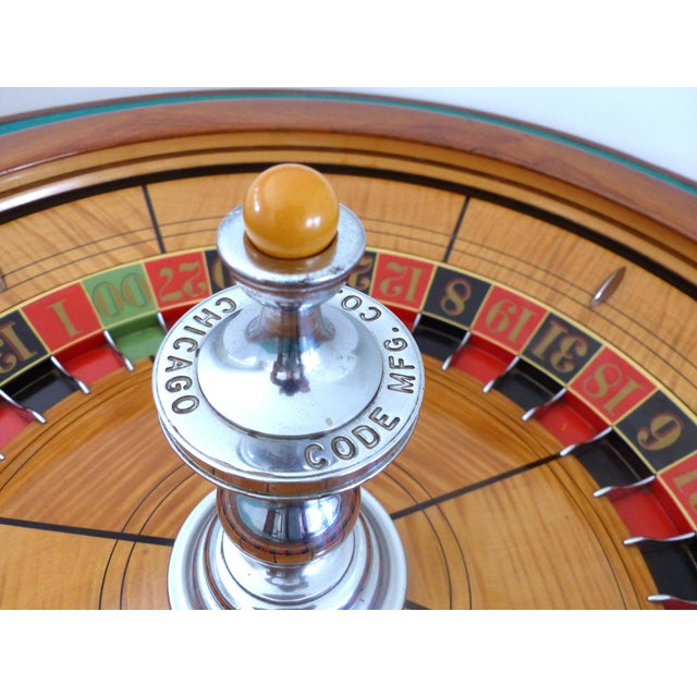 Brass American Great Gatsby Era 1920s Mahogany Roulette Table From O'Dwyer's Casino For Sale - Image 7 of 12
