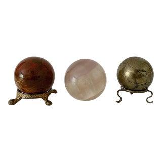 Vintage Decorative Spheres - Set of 3 For Sale