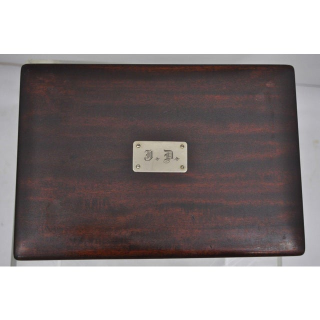 Early 20th Century Antique Mahogany Cigar Humidor For Sale - Image 4 of 11