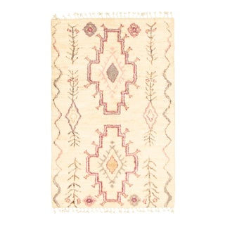 "Moroccan-Style Hand-Knotted Rug-3'11"" X 6'2"" For Sale"