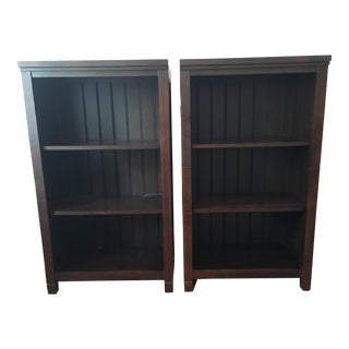 Pottery Barn Beadboard Tower Bookshelves - a Pair