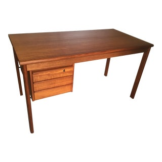 Peter Lovig Nielsen Danish Modern Teak Slide Top Desk For Sale