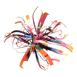 Dorothy Gillespie Enamel and Aluminum Art Sculpture Starburst For Sale