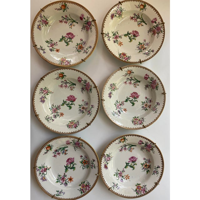 18th Century Famille Rose Plates - Set of 6 For Sale - Image 4 of 4
