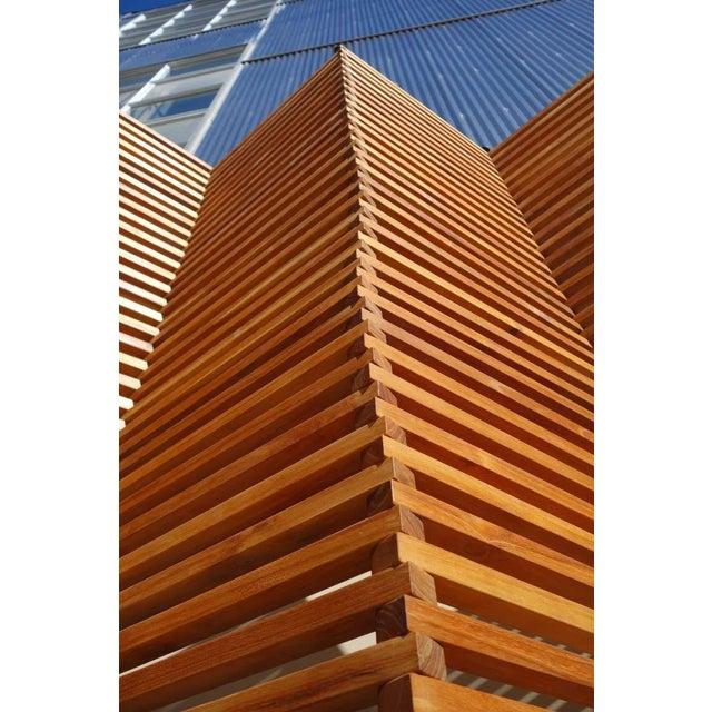 Pliable wooden slat screen chairish