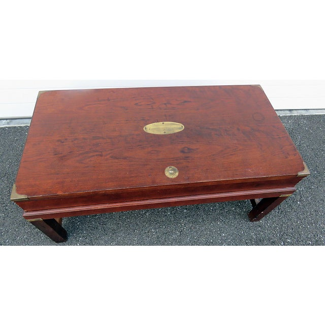 Mid 20th Century Campaign Style Box on Stand For Sale - Image 5 of 10