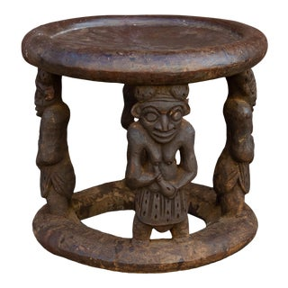 Figurative Babank African Stool For Sale