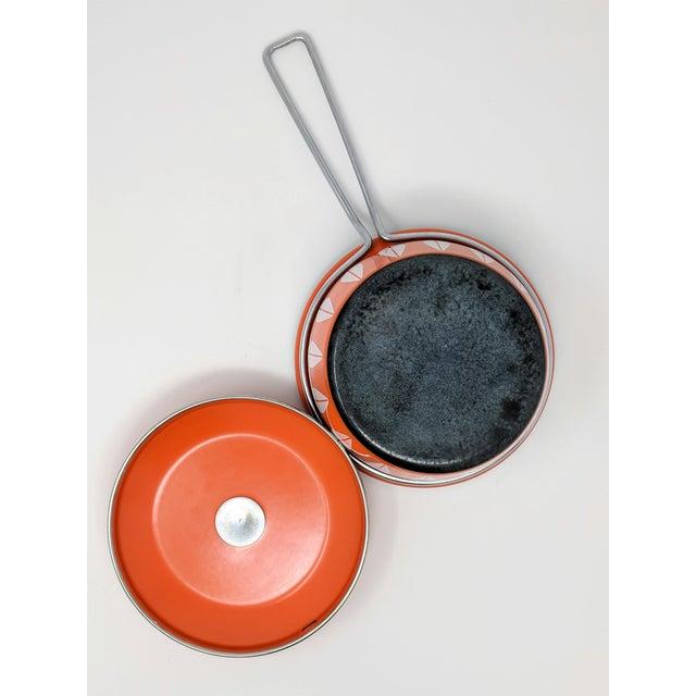1960s Vintage Grete Prytz Kittelsen for Cathrineholm Enamel Lotus Saucepan For Sale - Image 10 of 12
