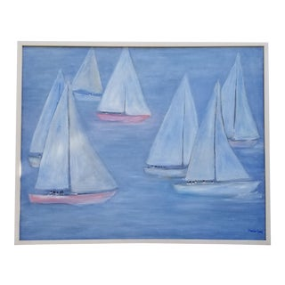 1980s Vintage Femiss Craig Boat Painting
