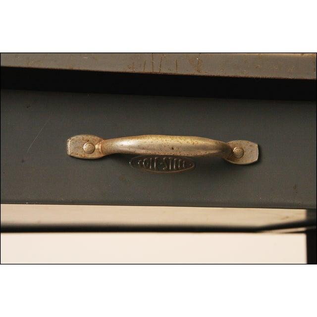 Vintage Cole Steel Industrial Gray Rolling Typewriter Table - Image 8 of 11