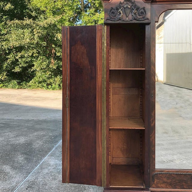 Antique French Neoclassical Mahogany Armoire For Sale - Image 10 of 13