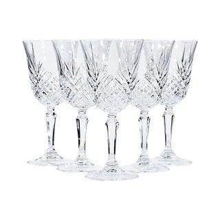 1970s Glass Wine Stems, Set of 5