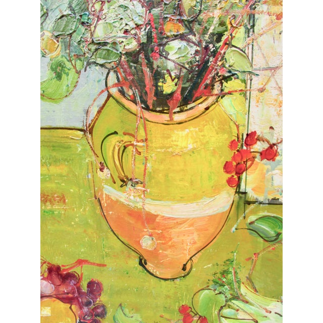 Paint 1950s Vintage Andre Vignoles Painting For Sale - Image 7 of 11