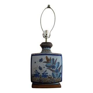 Large 1960s Ken Edwards Pottery Lamp For Sale