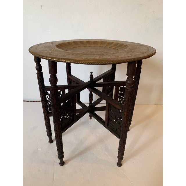 Round Moroccan Tray End Table For Sale - Image 4 of 13