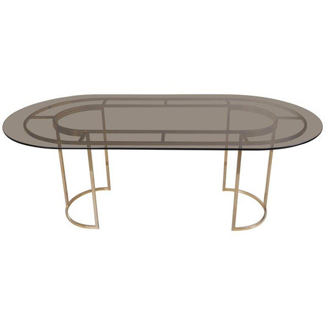 Gold Huge Brass and Glass Dining Table by Romeo Rega For Sale - Image 8 of 8