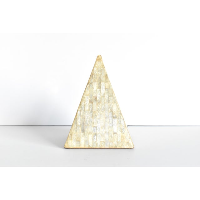 Mid 20th Century Vintage Mother of Pearl Inlaid Pyramid Curio For Sale - Image 5 of 8