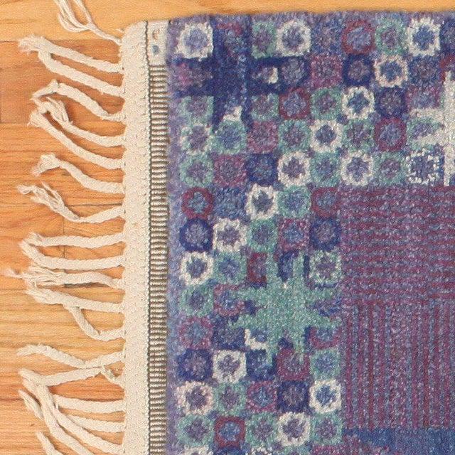 Vintage Scandinavian Carpet by Marta Maas-Fjetterström - 6′ × 6′ For Sale In New York - Image 6 of 9