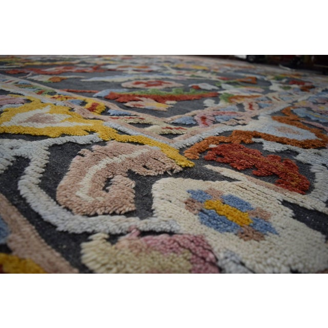 Geometric Modern and Contemporary High-Low Area Rug - 10′9″ × 13′8″ For Sale In Dallas - Image 6 of 7