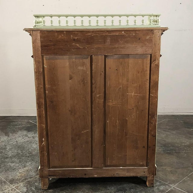 Antique Belle Epoque Painted Cabinet For Sale - Image 12 of 13