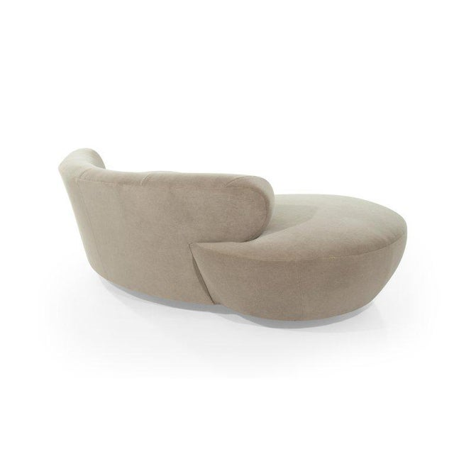 Curved Sofa on Walnut Bases by Vladimir Kagan for Directional For Sale In New York - Image 6 of 13
