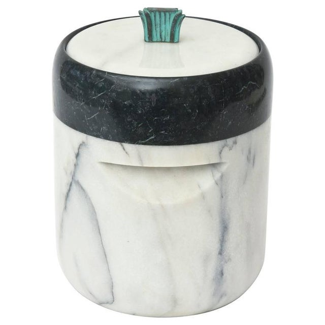 Mid-Century Georges Briard Marble and Bronze Ice Bucket For Sale - Image 10 of 10