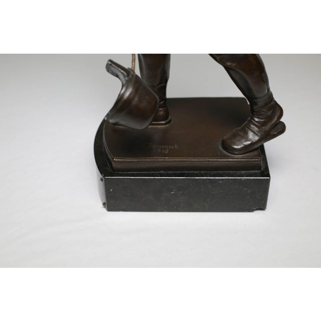 Early 20th Century Bronze Steel Worker Figure on Marble Signed by Artist For Sale In San Francisco - Image 6 of 8