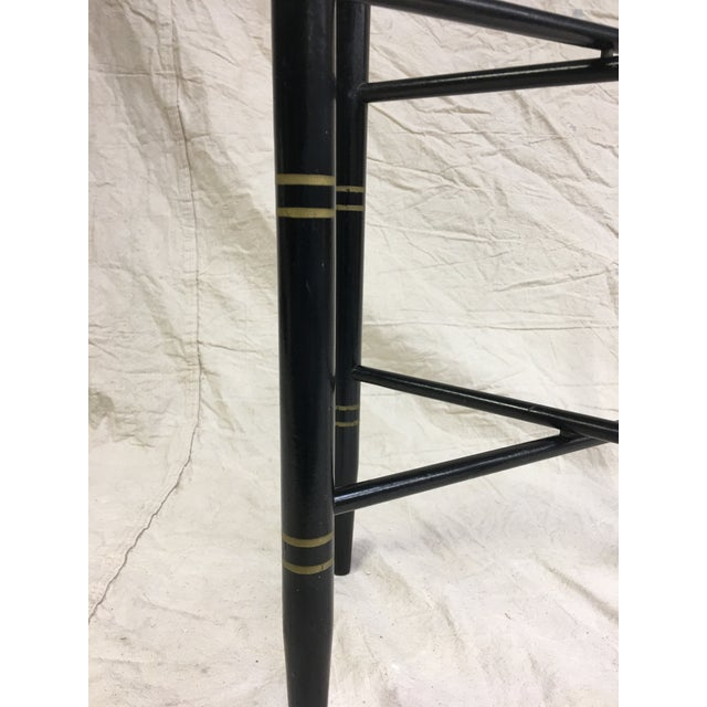 Vintage Black and Gold Folding Tray Table Stand. This stand will hold a brass, tole or any other type of tray. It folds...