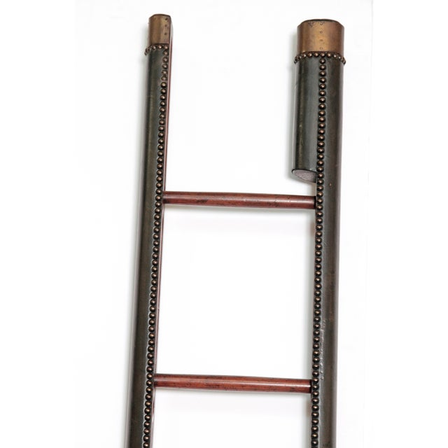 Hollywood Regency Edwardian Period Mahogany Folding Ladder For Sale - Image 3 of 11