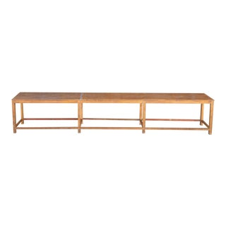 Very Long British Colonial Teak Console Table For Sale