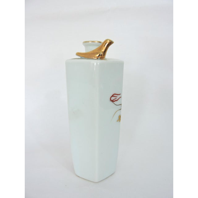Asian Japanese Gold Dragon 'Whistling' Porcelain Sake Flask/Decanter For Sale - Image 3 of 9