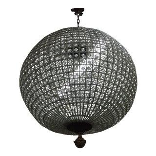 Crystal Sphere Chandelier For Sale