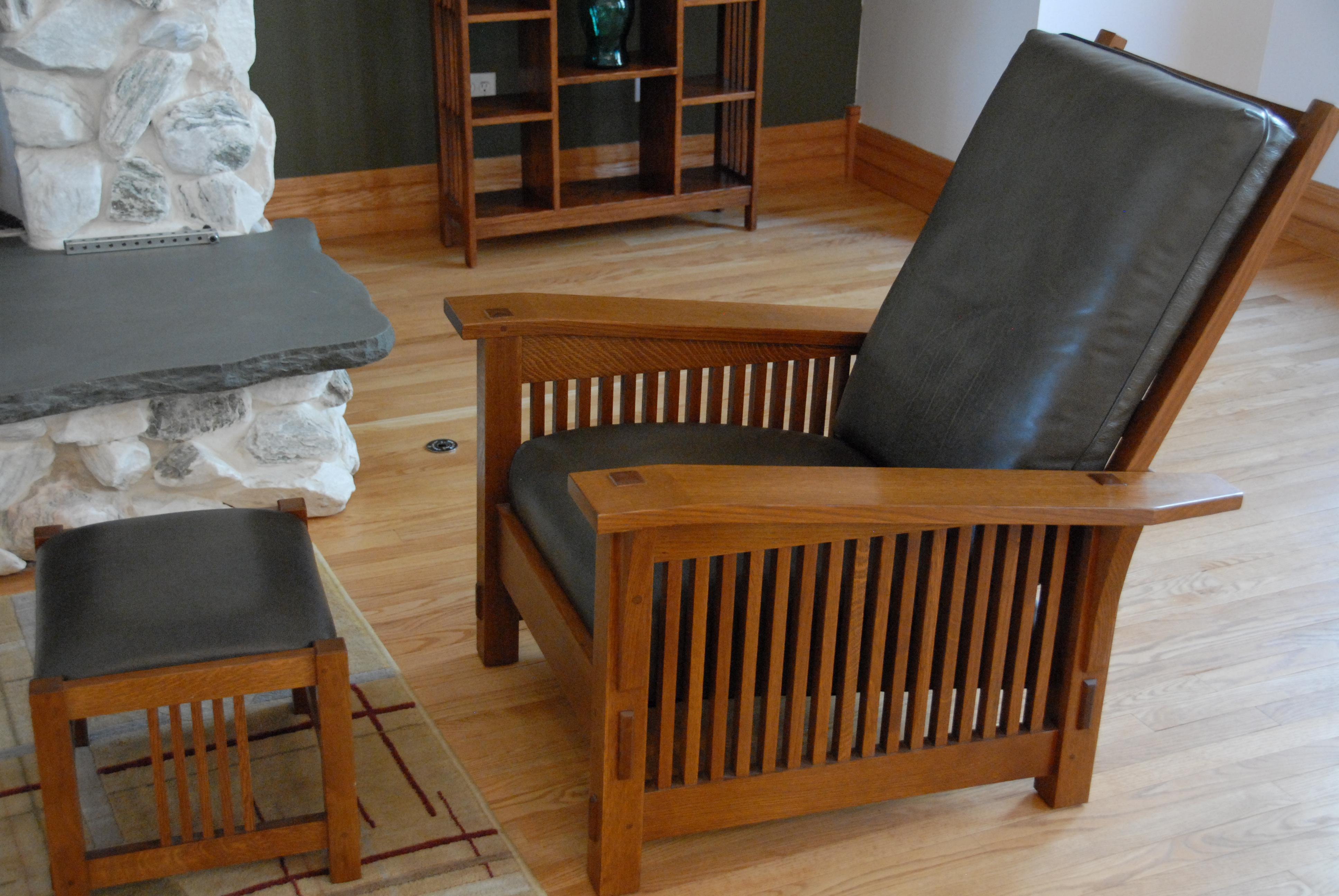 Merveilleux Mission Style Morris Chair U0026 Ottoman   A Pair   Image 6 ...