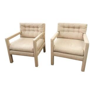 Pair, Milo Baughman Parson Style Lounge Chairs