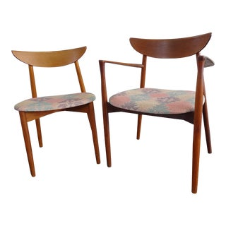 Mid Century Harry Ostergaard by Randers Mobelfabrik for Moreddi Danish Teak Chairs- A Pair For Sale