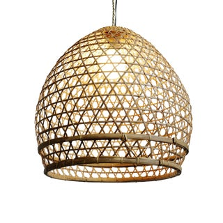 Wicker Fish Basket Lantern Medium For Sale