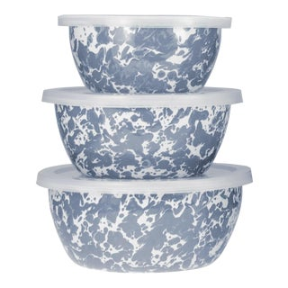 Nesting Bowls Grey Swirl - Set of 3 For Sale
