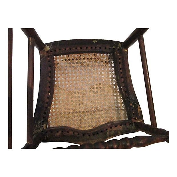 Wood Early 1800s Hand Carved Child's Chair For Sale - Image 7 of 7