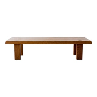 Solid Elm Coffee Table by Pierre Chapo Model T08, France, 1970s For Sale