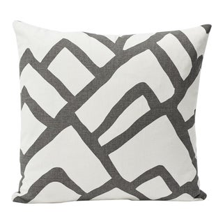 Schumacher Double-Sided Pillow in Zimba Print