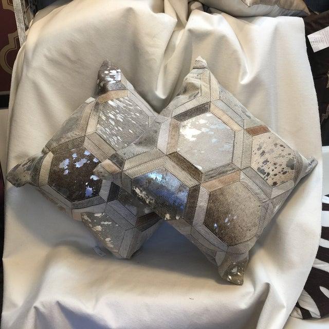 Modern Cowhide Pillow Chairish